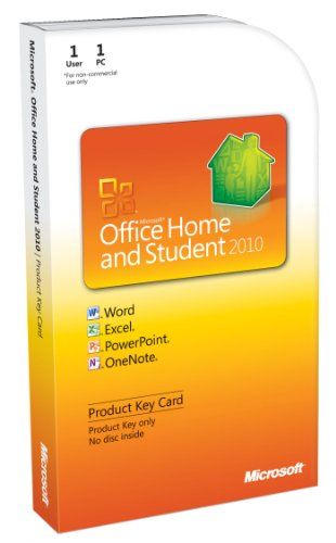 Office Home and Student 2010, 1 User [Product Key Card] (PC)